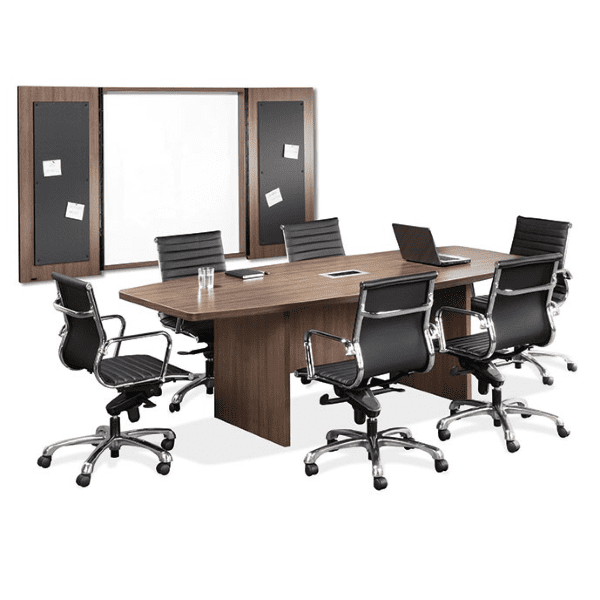 Boat Shape Conference Table Walnut