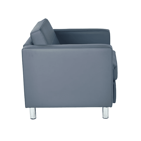 Gray Vinyl Contemporary Chair - Side