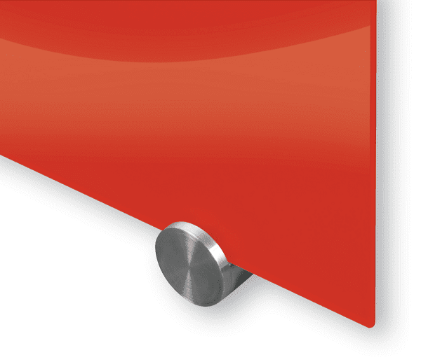 Glass Magnetic Dry Erase Whiteboard - red
