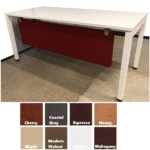 30D Work Table with Front Modesty Panel in Red