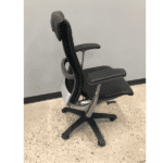 Used Knoll Life Black Leather Wrapped Office Chair - Side