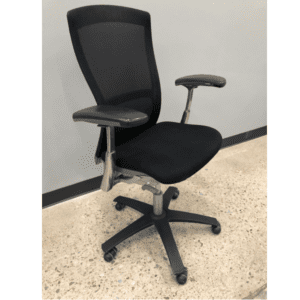 Used Knoll Life Black Mesh Office Chair View