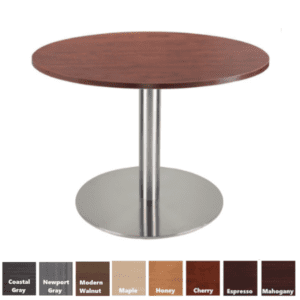 PL Round Table - Brushed Aluminum Round Platform Base