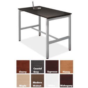 "24""D x 42""H fixed height multi-purpose work table"