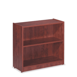 30 Inch Tall 2 Shelf Cherry Bookcase