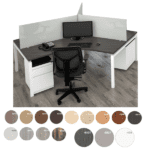 Bench iT 3 Person 120 Degree Workstation
