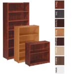 Laminate Bookcases in 8 Finish Colors