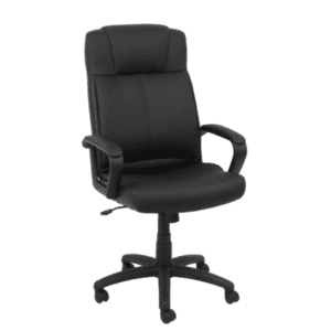 Values Black Bonded Leather High Back Chair