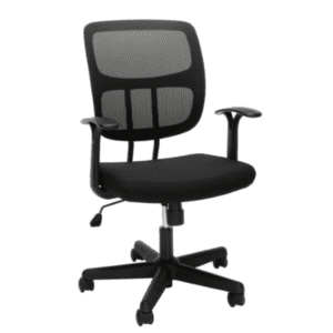 Values Black Mesh Office Task Chair - Fixed Armrests
