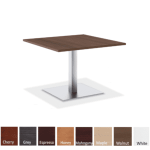 36 Square Occasional Table - Brushed Aluminum Square Platform Base