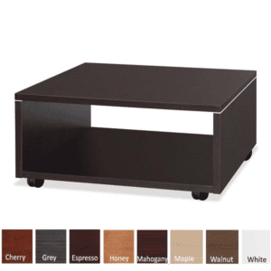 Compose Mobile Laminate Base Open Square Reception End Table - Espresso - 8 Colors