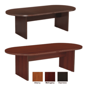 Nexus 6 Feet Oval Shaped Conference Tables - Espresso & Mahogany - 3 Colors