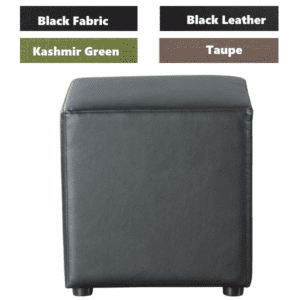 Shapes Collection - Cube - Bonded Black Leather - 4 Colors