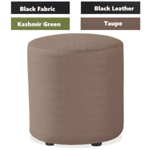 Shapes Collection - Cylinder Ottoman - Taupe Fabric - 4 Colors