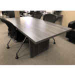 Status 8 Feet Conference Table - Grey Finish