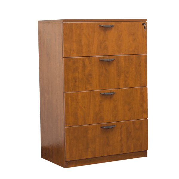 Ultra 4-Drawer Lateral File Cabinet - Cherry - 5 Colors