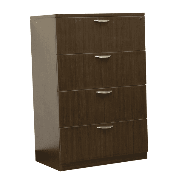 Ultra 4-Drawer Lateral File Cabinet - Espresso - 5 Colors