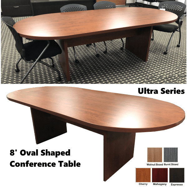 Oval Shaped Cherry Conference Tables