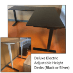 Deluxe Adjustable Height Electrical L-Shape Desk