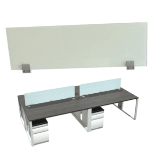 Top Mount 12 Inch Tall Frosted Glass Screens