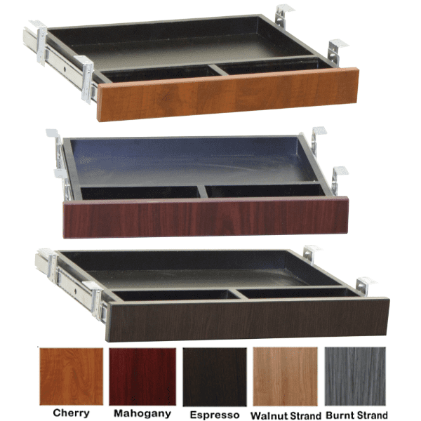 Ultra Lap Drawers in 5 Color Finishes