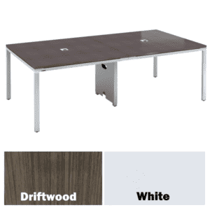 Values 8 Feet Rectangular Conference Table - Driftwood Finish - Two Color Finishes