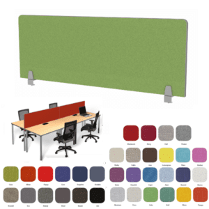 Enclave™ Edge Band Fabric Desk Divider