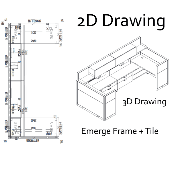 Maxon Emerge Frame 2D 3D Drawing