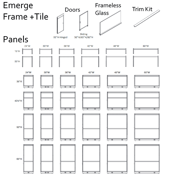 Maxon Emerge Panel Chart Sizes