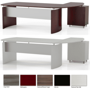 Mayline Medina Contemporary Curved Desk