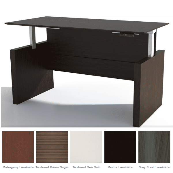Adjustable Straight Front Desk