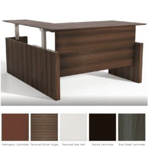 Medina™ Height-Adjustable Straight Front Desk & Return