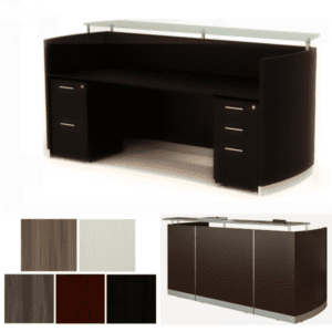 Medina Reception Desk - Pedestal Storage - Mocha
