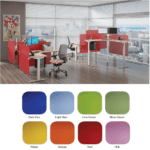 Uptown Height Adjustable Colorful Acrylic Desk Panel