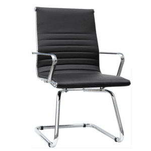 AQ-3507 Black Mid Back Guest Chair