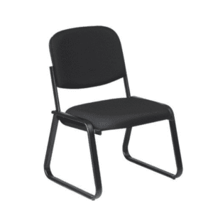 ES-5530 Sled Base Armless Guest Chair - Grade A Black Fabric