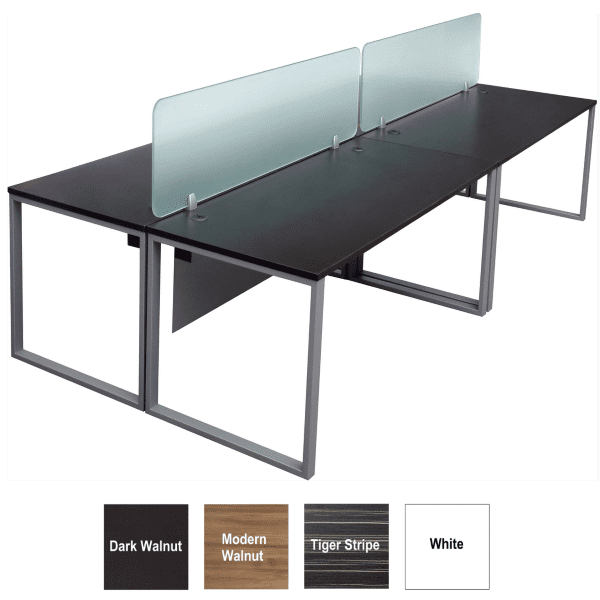 Express Lair 4 Person 2x2 Shared Workstation