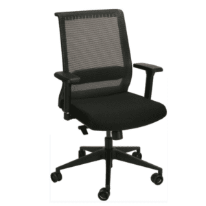 HU-X15 Synchro-Tilt BLACK Mesh Back Task Chair