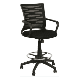 BLACK Mesh Back Drafting Height Chair