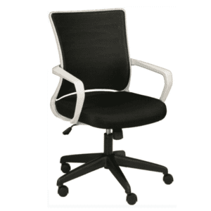 KB-2022 BLACK Mesh Back Task Chair - Light Gray Frame