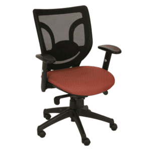 Kb-8901 - Black Mesh Back with Grade B Red Fabric - Grade B Fabric - 100s of Seat Fabrics Available
