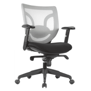 Kb-8901 - White Mesh Back with Grade A Black Fabric