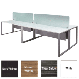 Lair 2x2 Facing Benching Workstations with Two 18 Inch