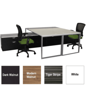 Lair Two Person Facing Workstations - 4 Top Surface Colors