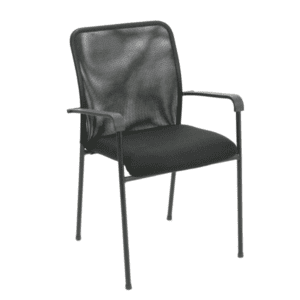 SX-W3013A Black Mesh Back Guest Chair