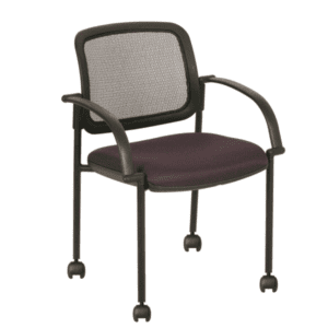 SX-W4067C Mobile Mesh Back Training Guest Chair