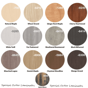 13 Special Order Laminate Worksurface Colors