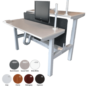 Double Electric Height Adjustable Workstation Sit to Stand Desk