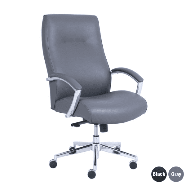 Contour Gray Bonded Leather