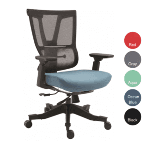 Moov Series EM-5325 Mesh Executive Task Chair - Ocean Blue